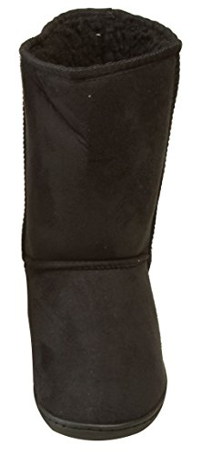 Simplicity Flat Boots Comfort Multi Color Shoes Faux-Suede Bootie, Size 7, Black from Simplicity