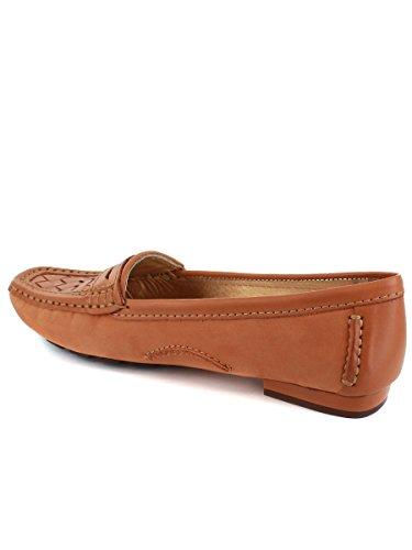 Genuine Made Honey Womens Brazil Nobuck Weave Leather In Loafer wUqdp7q