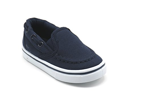 EASY21 Boys Boat Shoes Loafers Kids Casual Shoes Slip On JR-14F,Navy,Size