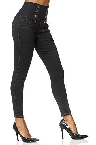 Alta Dimensione D2489 Donne Plus Corsetti Vita Nero Pantaloni Jeans Treggings Tubo Noname CfwaZcqcR
