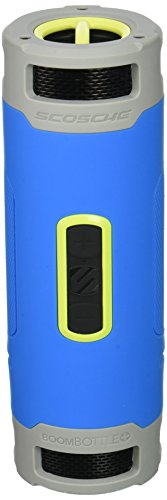 SCOSCHE BoomBottle+ Rugged Waterproof Portable Wireless Bluetooth 4.0 Speaker - Dual 360-Degree 12 Watt 50mm Speakers with Subwoofer and Indoor/Outdoor EQ Functions - Sport Blue (BTBPSBL) by Scosche