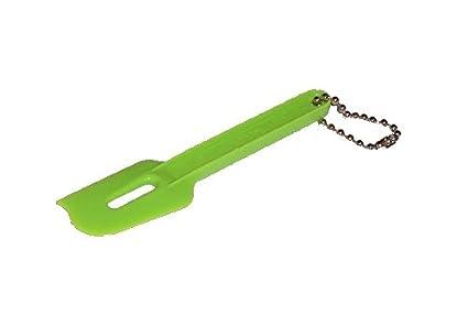 Tupperware Mini pala rasqueta novedad llavero en verde