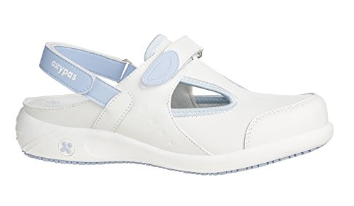 Oxypas Move Carin Slip-resistant, Antistatic Nursing Shoes, White (Lbl) , 4 UK (EU: 37)