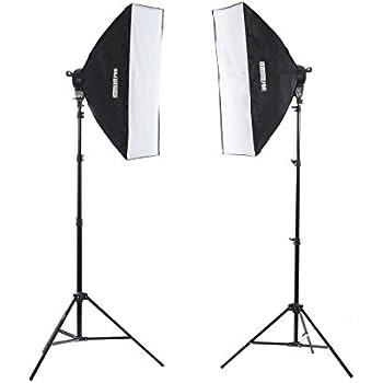 Fovitec StudioPRO 3200 Watt Double 24 x36  Softbox Continuous Portrait u0026 Video Lighting Kit  sc 1 st  Amazon.com & Amazon.com : Diva Ring Light Super Nova 18