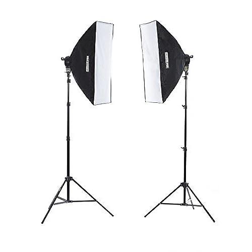 Fovitec StudioPRO 3200 Watt Double 24 x36  Softbox Continuous Portrait u0026 Video Lighting Kit - Film Photography u0026 Studio Essentials Includes Light Stand ...  sc 1 st  Amazon.com & Film Lighting Equipment: Amazon.com azcodes.com
