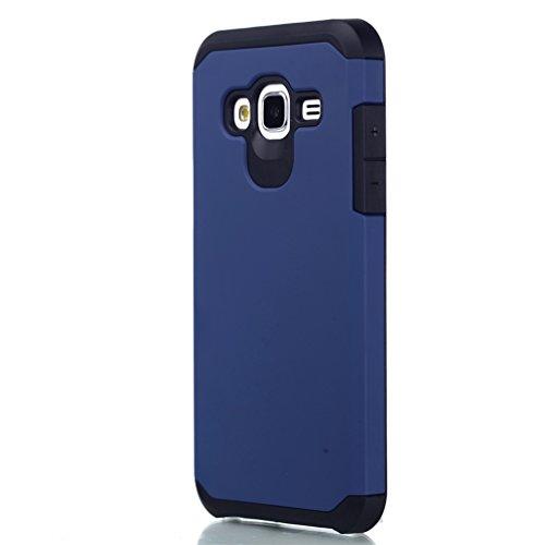 Galaxy J3 Hard Case,Samsung J3 Armor Case,Samsung Galaxy J3 Hybrid Case,Hybrid Dual Layer Armor Defender Protective Case Cover for Samsung Galaxy J3 J320a Phone,Dark - Armored Arm Core
