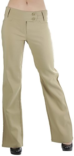 Women's Boot-Cut Dress Pants - Khaki