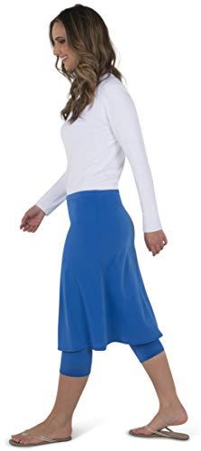 - HYPOSIA Modest Swim Skirt Atch Capri Leggings Swimwear Athletic Sports Royal Blue