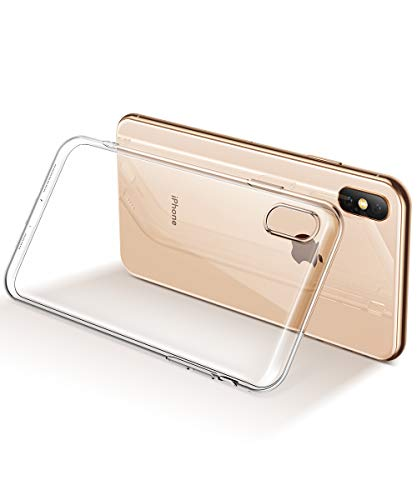 GVIEWIN Ultra Slim Desgined for iPhone Xs Max Case, TPU Soft Cover Shockproof Anti-Scratch Cell Phones with Electroplated Frame, Crystal Clear Protective Cover for iPhone Xs Max (Clear)