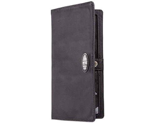 Big Skinny Women's Executive Bi-Fold Checkbook Slim Wallet, Holds Up to 40 Cards, Black by Big Skinny (Image #1)
