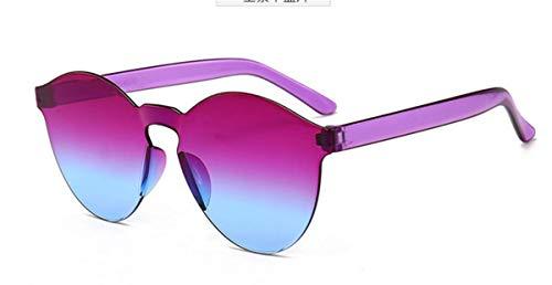 Gafas UV400 Retro Fliegend Espejo Sol Gafas Sin Marco Súper C23 Transparentes de Unisex de Sol Hombre Vintage Polarizadas Gafas Mujer Lente Ligero 0SwpPq0