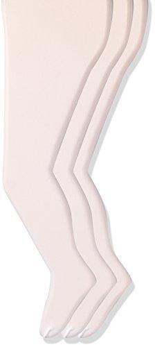 trimfit Girls' Big Spandex Sheer Toe Pantyhose, 3-Pack, White, 10/14