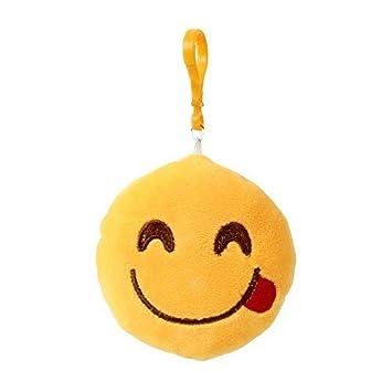TE-Trend Llavero Emoji Emojicon 10cm con Cordón y Mosquetón ...