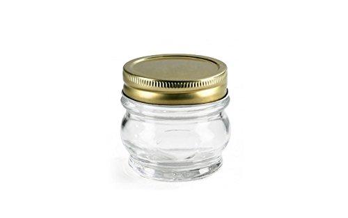 Borgonovo Glass Jar With Lid   156 ml, 2 Pieces, White