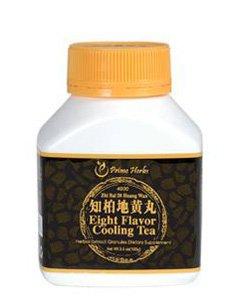 Huit saveur de thé de refroidissement (Zhi Bai Di Huang Wan) 3,5 onces (100 grammes) par le Premier Herbes
