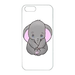 iPhone 5/5S Case,Fashion Durable White Side design for iPhone 5/5S,PC material Phone Cover,Designed Specially Pattern with Baby Dumbo Art.