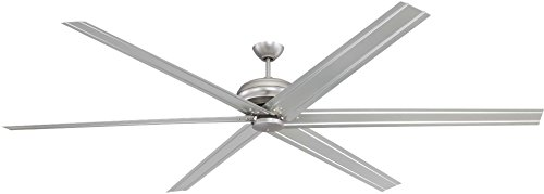 Craftmade COL96BN6 Outdoor Ceiling Fan with Remote Colossus Large Fan for Patio, 96 Inch, Brushed Pewter