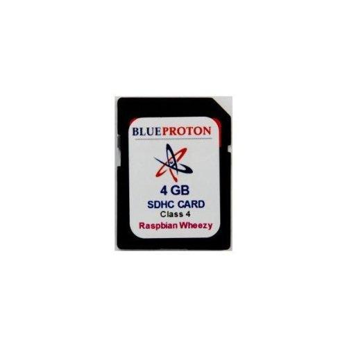 BlueProton Raspberry Pi Wheezy 4GB Class 4 SD Card Boot Disk