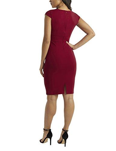 Etuikleid vorne Detail Rot Figurbetontes Kleid mit verdrehtem Lipsy Damen wPvxtt
