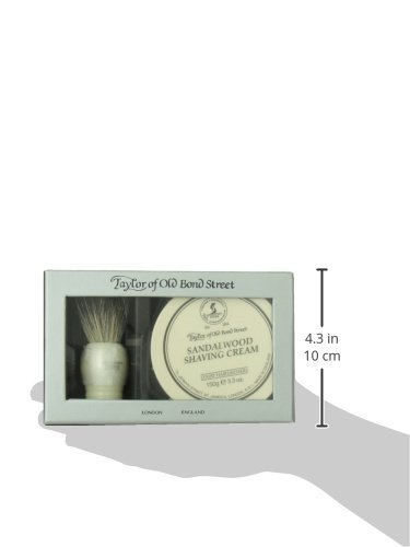 Taylor of Old Bond Street Luxury Shaving Gift Set Box - Sandalwood Shaving Cream & Pure Badger Shaving Brush *NEW* by Taylor of Old Bond Street (Image #2)