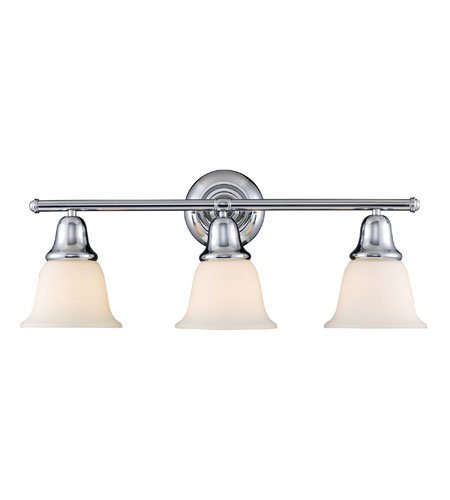 Bathroom Vanity 3 Light with Polished Chrome Finish Medium Base 27 inch 300 Watts - World of Lamp