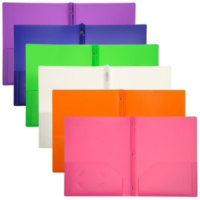 LIO92310ASCT - Lion Office Products, Inc 2-Pocket Plastic Folder with Fasteners by Lion Office Products, Inc