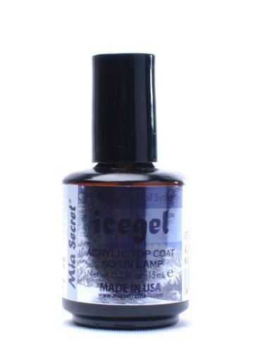 Mia Secret Professional Nail System Ice Gel Acrylic Top Coat No Uv Lamp