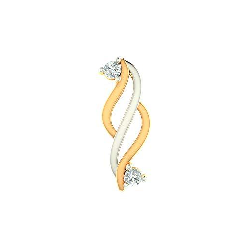 Zeya Yellow Gold Curve Pendant for Women