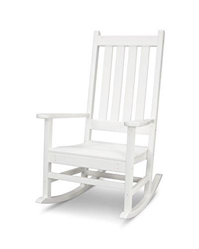 POLYWOOD Vineyard Porch Rocking Chair (White)