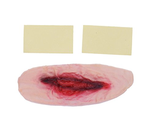 Morticia Costume Lace (Creepy Bloody Wound Scars Makeup Cosplay Halloween Costume Looks Very Real For Festival Party)