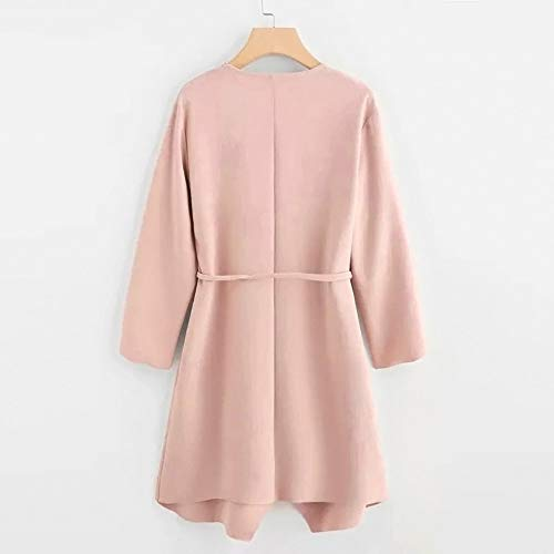 Giacca Outwear a Rosa Cascata CICIYONER Tasca Casual Donna Avvolgente Frontale Colletto PffnzAx8