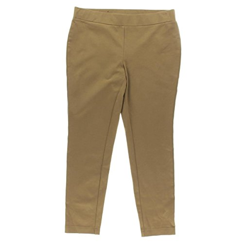 INC Womens Plus Skinny Leg Stretch Leggings Tan 14W