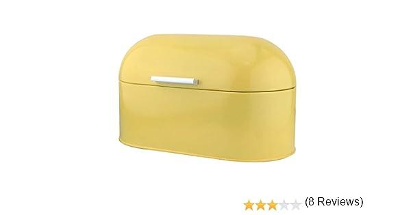Color Amarillo Apollo Custard dise/ño Vintage Panera de Acero Inoxidable