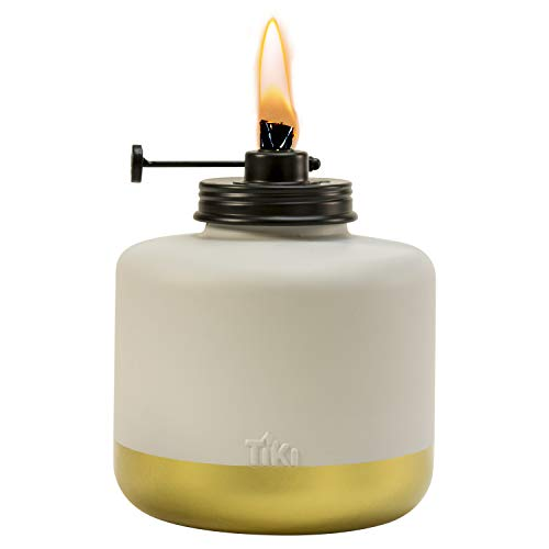 TIKI Brand 1118023 Adjustable Flame Gold Dipped Glass Votive Table Torch, 6.75-inch, Gold/Gray -