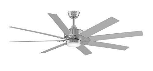 Fanimation FPDZ916BN - 63 inch - Levon Ceiling Fan with Brushed Nickel Blades with LED Light Kit, Brushed Nickel from Fanimation