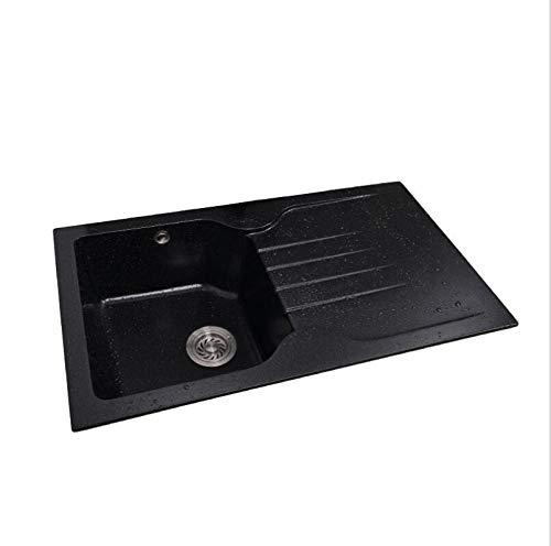 AOHMG Kitchen Sink Single Bowl Granite Sink, Bar Farmhouse Kitchen -