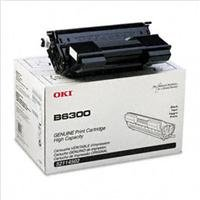 OKI Data Black Toner Cartridge for B6300 Series Printer, Yields Approx. 18000 Pages