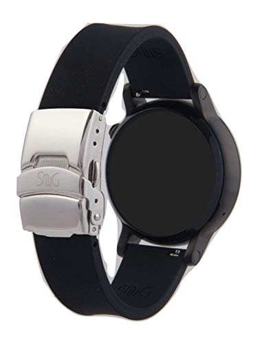 The Original SnuG watchbands Perfect fit Bracelet Band, Replacement Smart Watchband 16mm 20mm or 22mm Strap - Silicone - Quick Release - Stainless Steel Deployant -