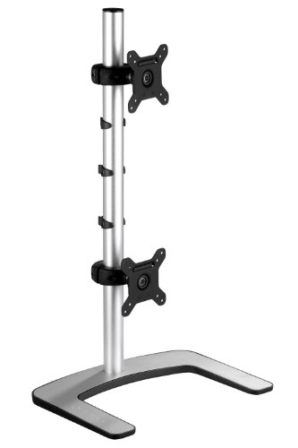 2010 Daily Desk (Atdec VFS-DV Visidec Dual Vertical Freestanding Desk Mount for 2 Displays up to 27-Inch, Silver)