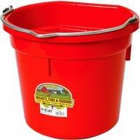Miller Manufacturing Co. P20FBRED 20 QT Flatback Bucket by Miller