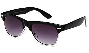 """Hayden"" - Kids Mirror Flash Lens Fashion Sunglasses Classic Fashion Look Clubmaster Vintage Kids Sunglasses Girls Boys UV Protection Lead Free"