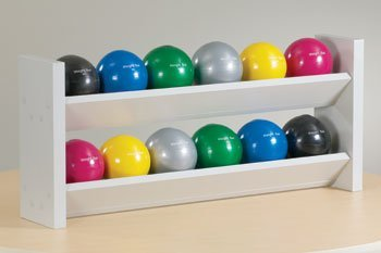 CLINTON EXERCISE BALLS AND ACCESSORIES Double level ball rack w/12 s.g.balls Item# 8199
