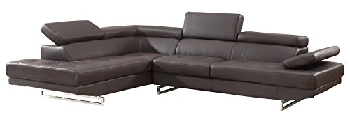 Blackjack Furniture 8136-BROWN-RAF Sectional Leather Match Right-Facing Sectional, Brown , 1 Piece (Raf Leather Sectional)