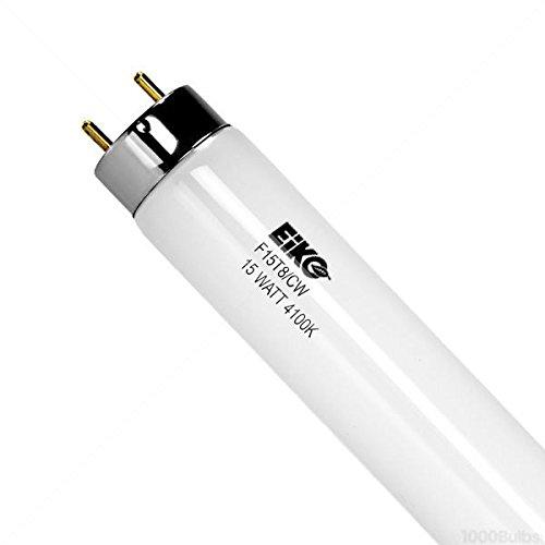 Eiko F15T8/CW 4100K T-8 G13 Base Halogen Bulb, 15W, Cool White ()