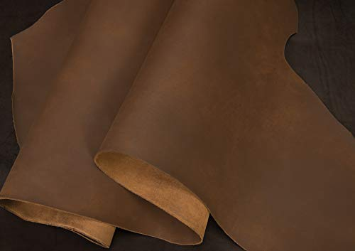 Matte Chrome Tanned Water Buffalo Leather, 5-6 oz. Bark Brown