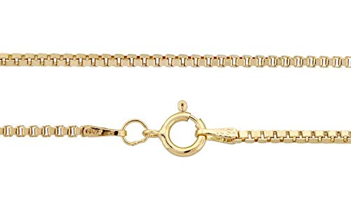 14kt Gold Filled 1.5mm 20 Inch Box Chain with Spring Ring Clasp - 1pc (3374)/1