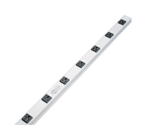 Tripp Lite 8 Outlet Bench & Cabinet Power Strip, 24 in. Length, 15ft Cord with 5-15P Plug -