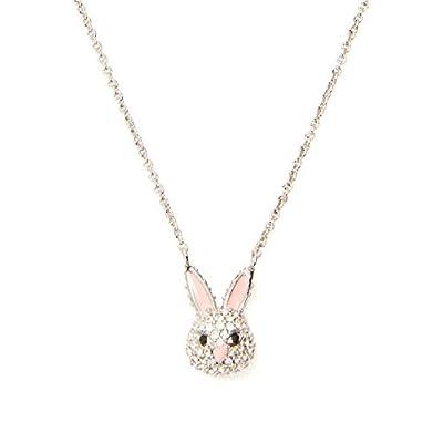 Nice Kate Spade New York Silver-Tone Crystal Make Magic Rabbit Mini Pendant Necklace