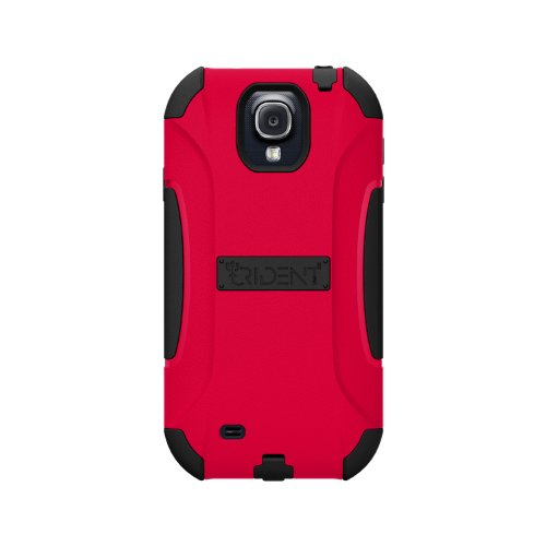 Blackberry Rubber Faceplates - Trident Case AEGIS Series Protective for Samsung Galaxy S4/GT-I9500 - Retail Packaging - Red