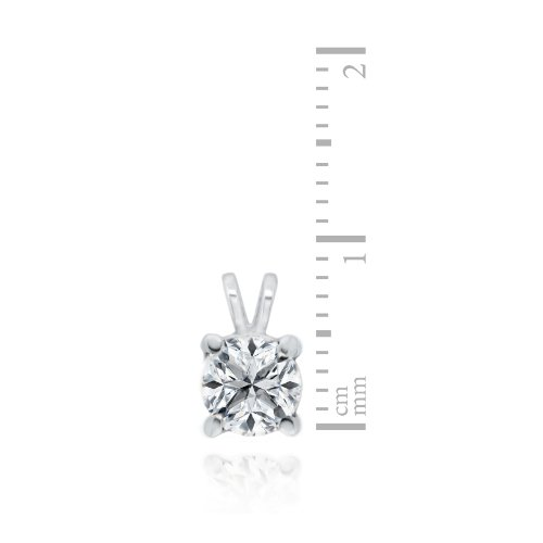Carissima Gold - Collier avec pendentif - Or blanc 9 cts - Diamant 0.5 cts - 46 cm - 5.45.4154